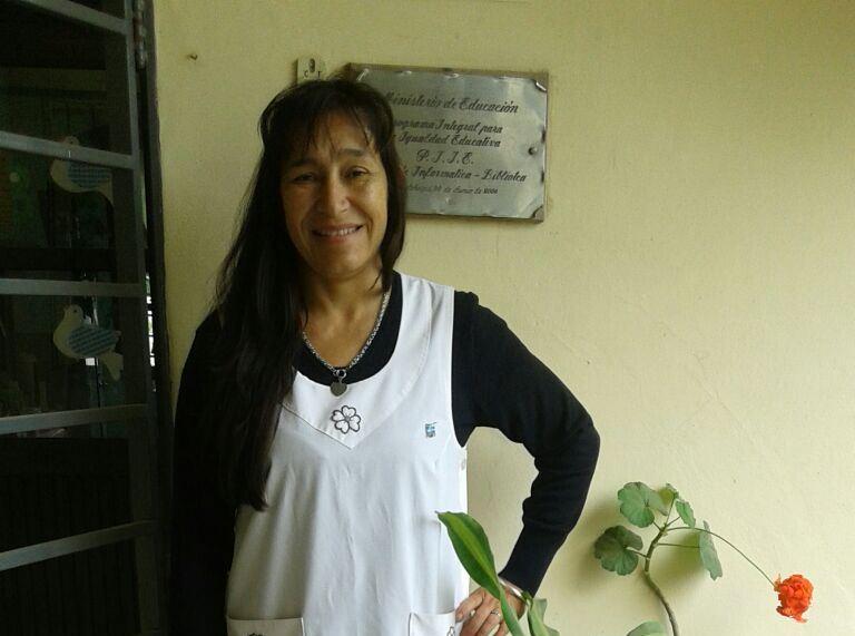 Analía este 19 de octubre participando de la Jornada Nacional de Lucha